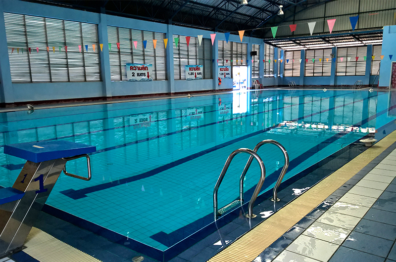 Public indoor swimming pool | Thailand for farang